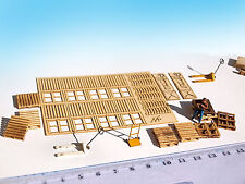 Miniature Wood Pallets Lifter KIT laser cut 1/87 HO scale model diorama railway