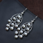 thumbnail 2 - B11-Oriental-Earrings-White-Freshwater-Pearls-And-Sterling-Silver-925