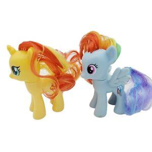 "My Little Pony G4 ""Sunset Shimmer & Rainbow Dash"" 2010  3.25"" Ponies Hasbro"