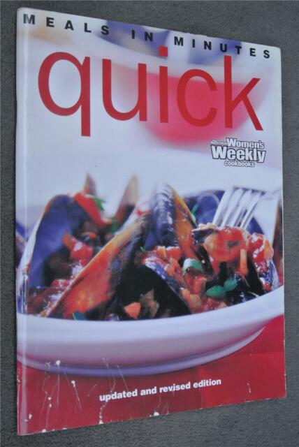 WOMENS WEEKLY~Meals in Minutes-QUICK Cookbook~ Delicious Fresh Fast Recipes