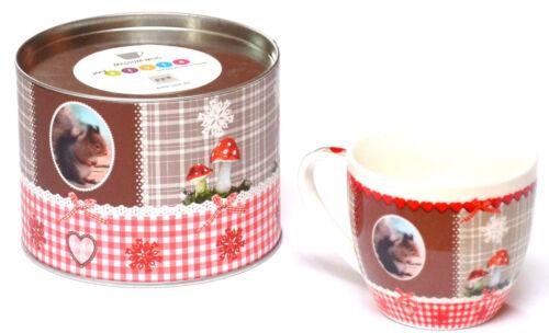 Tasse Kaffeebecher Teebecher Teetasse Becher ppd Porzellan Weihnachten