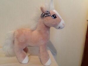 NICI-Horse-Diamond-Beige-Plush-Soft-Comforter-Toy-25cm-Excellent-Condition