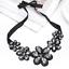 Fashion-Elegant-Women-Rhinestone-Crystal-Choker-Bib-Statement-Pendant-Necklace thumbnail 25