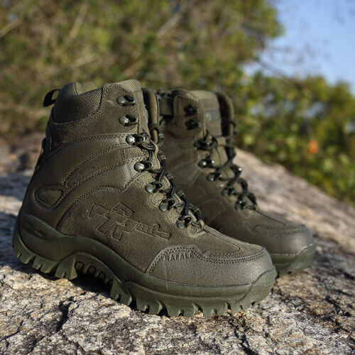 Black Brown SIDE ZIP Army Patrol Combat Boots Tactical Cadet Security Military