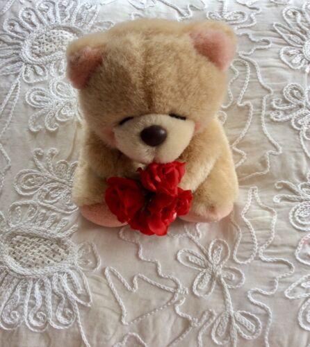 Teddy Bear marron Petit Bouquet Roses Andrew Brownsword