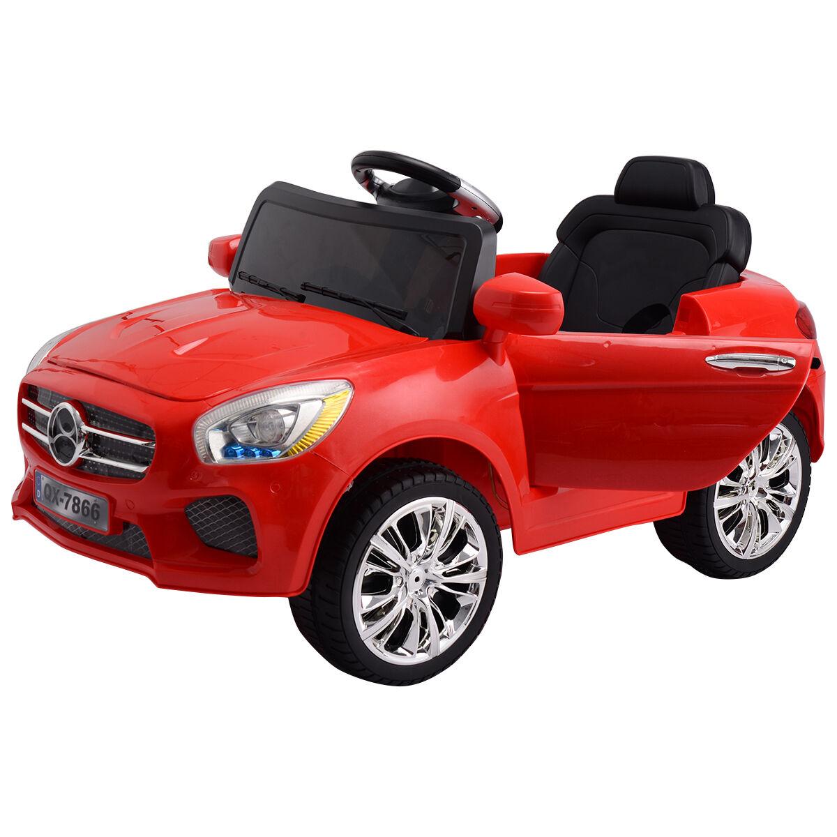Kinder in auto 6v rc ferngesteuert batteriebetriebene w   led - leuchten rote neue mp3