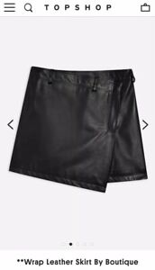 £145 Uk Skirt Leather By Leather Wrap Rrp Boutique Black Topshop 12 100 YUqwPxptq