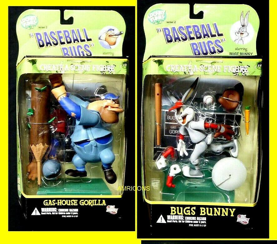 Bugs Basebtutti Looney Tunes  azione cifra Series 2 set 2006 oroen collezione