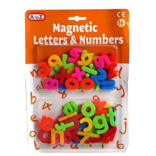 A to Z Conjunto de Aprendizaje magnética letras grandes números matemáticas 3+