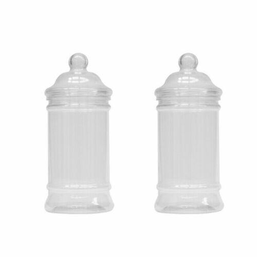 25 Victorian pot en plastique avec couvercle 500 ml-Idéal Pour Rétro Bonbons Mariages.