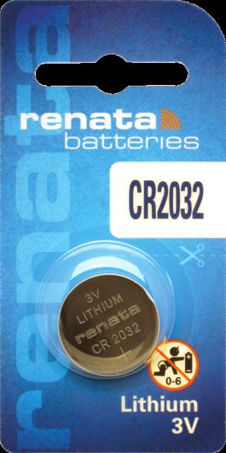 10 x Renata 2032 Batteries, 3V Lithium, CR2032