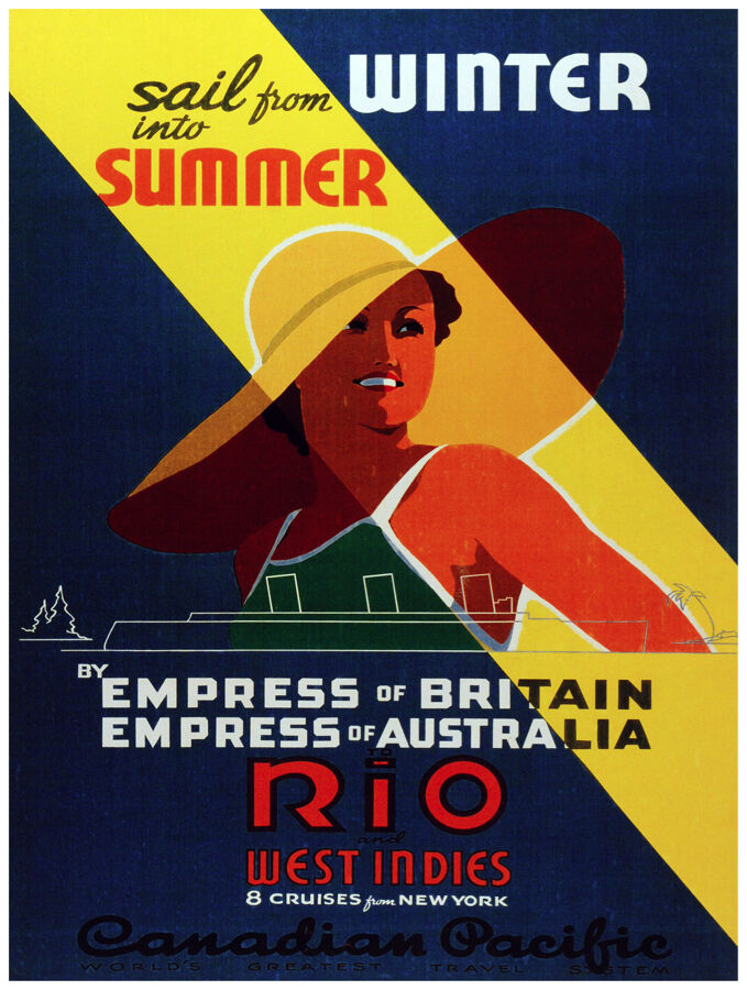 446.rio west Indies winter Art Decor POSTER. Graphics to decorate home office.