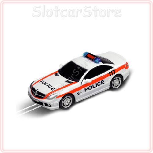 "Blaulicht Carrera GO 61223 AMG Mercedes SL 63 /""Swiss Police/"" 1:43 Auto Plus"