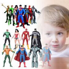 7x Justice League Action Figure Set Batman Superman Flash Wonder Woman Aquaman