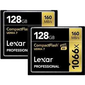 Lexar-128GB-Pro-1066x-UDMA-7-Compact-Flash-CF-Pro-Memory-Card-2-Pack-Total-256GB