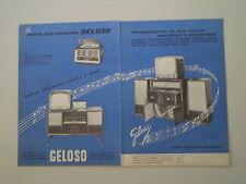 advertising Pubblicità 1959 GELOSO RADIO/TELEVISORE