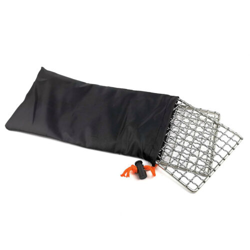 Barbecue Wire Mesh Stainless Steel Grid Square BBQ Rack Outdoor BBQ Net Grill U