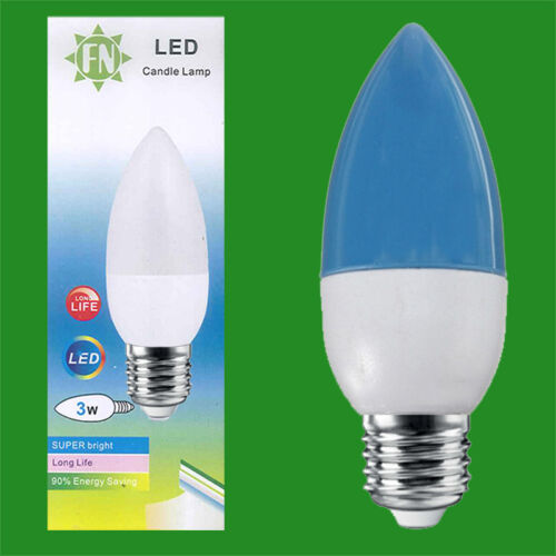 Red Yellow Green Blue 85-265V 3W LED Coloured ES E27 Candle Light Bulb Lamp