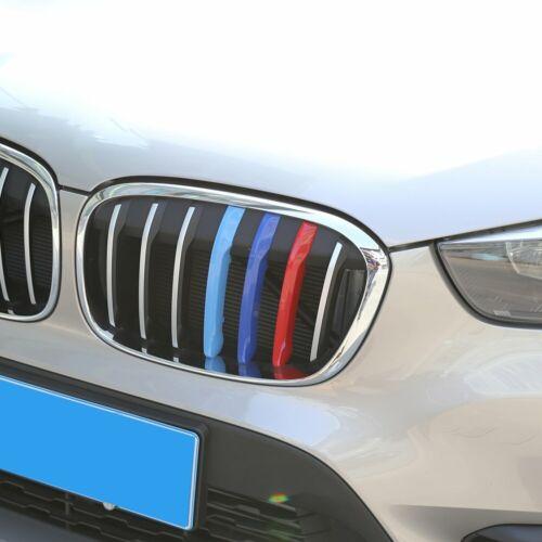 Für BMW X1 F48 2016-2019 3D M Tricolor NIEREN GRILL KÜHLERGRILL