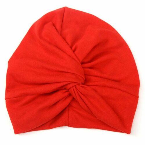 Baby Toddler Knot Turban Head Wrap Hat Sretch India Ear Cap Winter Warmer UK