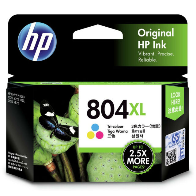 Genuine HP #804XL Color Ink T6N11AA for ENVY PHOTO 6220, 6222, 7120, 7820, 7822