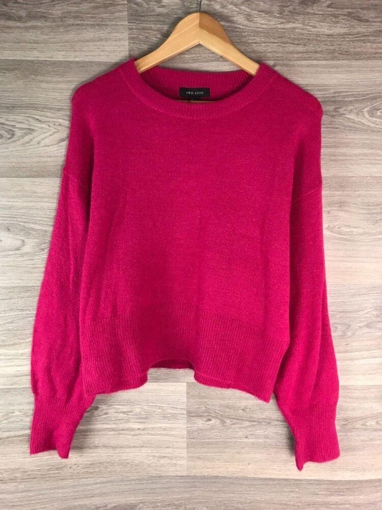 Agressif New Look Fuchsia Rose Mélange Laine Faux Mohair Style Pull Taille L 12 14 8253 En Quantité LimitéE