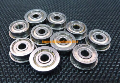 10PC 440c Stainless Steel FLANGE Ball Bearing Bearings SMF74zz MF74zz 4x7x2.5 mm