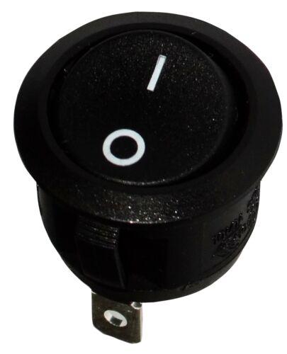 Interrupteur commutateur contacteur bouton à bascule noir SPST ON-OFF 6A//250V