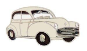 Morris Minor 1000 Sage Green Pin Badge