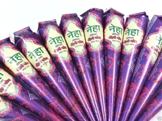 12 Neha Henna Mehndi Cone Mehandi Hina Temporary Body Tattoo Free Henna Book