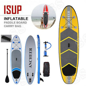 Details about Ancheer 11' Inflatable SUP Stand Up Paddle Board w/  Adjustable Paddle & Backpack