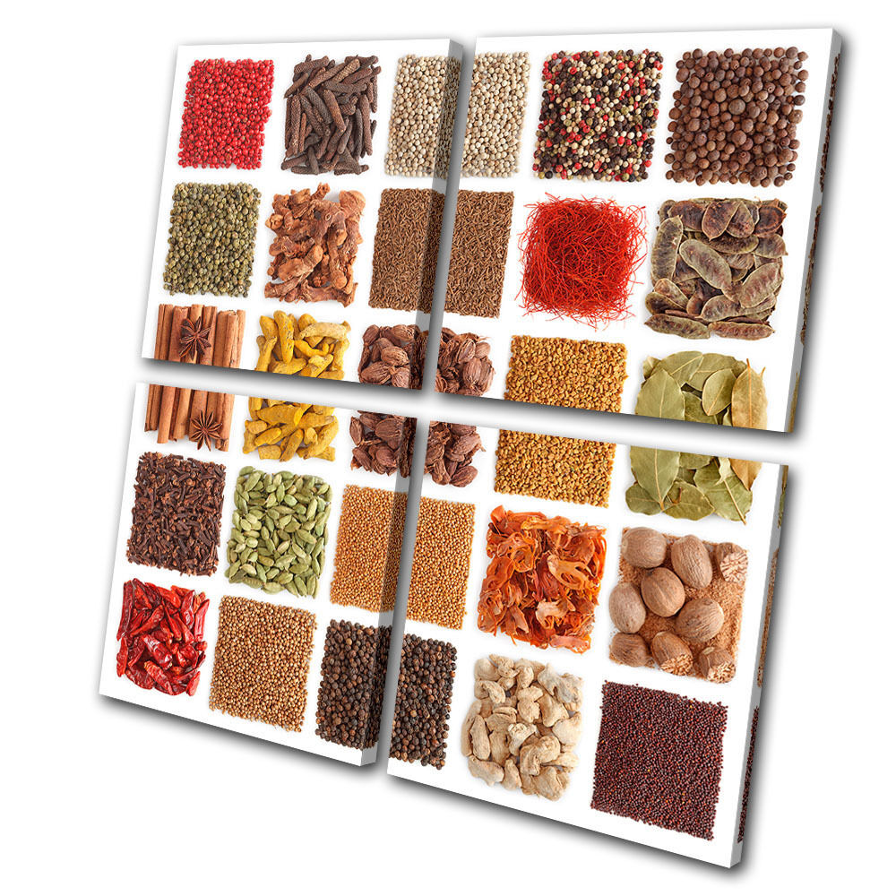 Food Food Food Kitchen Spices MULTI LONA pa rojo  arte Foto impresion 572456