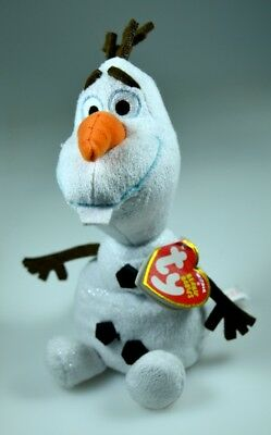 """Plush Toy MWMTs Ty Heart Tags Disney Frozen TY Beanie Baby 6/"""" OLAF the Snowman"""