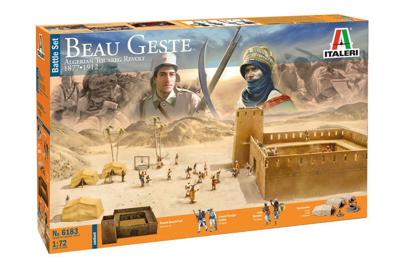 Italeri 1/72 Beau Geste Algerische Touareg Revolt 1877-1912 Kampf Set  6183
