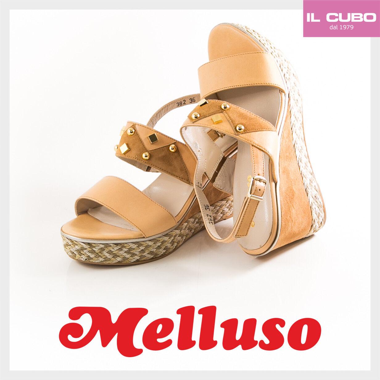 MELLUSO SANDALO SCARPA Damens COGNAC PELLE COLORE COGNAC Damens  ZEPPA H 8 CM NEW Schuhe 5b8d55