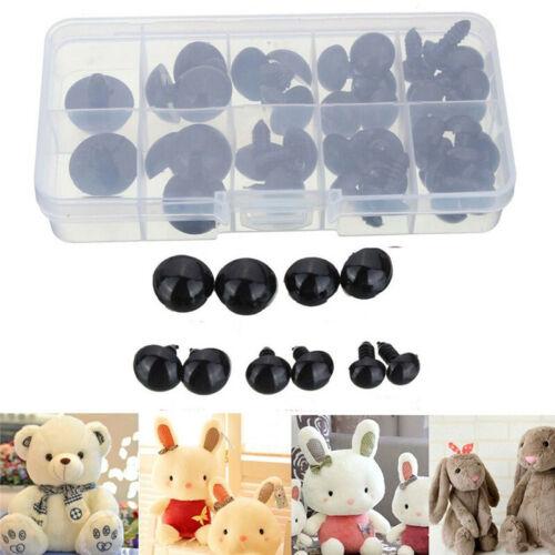 6-12mm 100pc Safety Eyes for Teddy Bear Making Soft Toy Animal Dolls Amigurumi