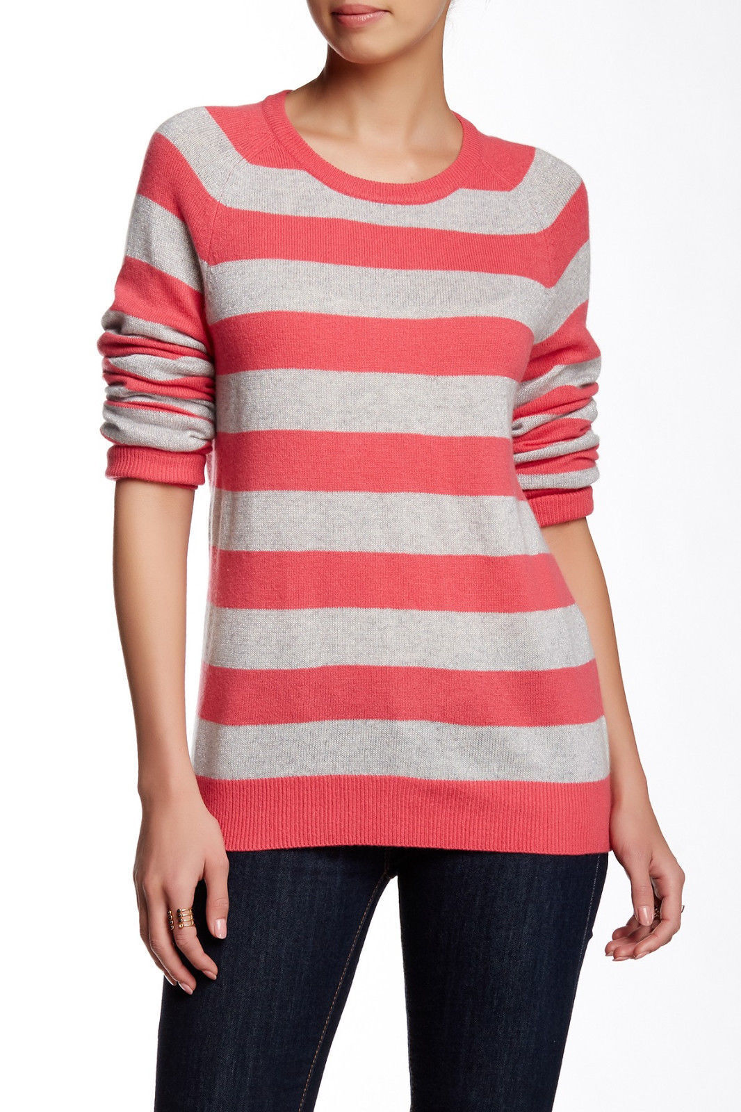 Equipment Femme Sloane 100% Cashmere Pink Pink Pink Metallic Striped Sweater NWT  M 1672dc
