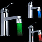 HOT Temperature Sensor 3Color Kitchen Water Tap Faucet RGB Glow Shower LED Light
