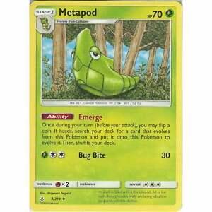 Metapod-3-214-Uncommon-Card-Pokemon-TCG-Sun-amp-Moon-Unbroken-Bonds-Cards