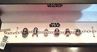 3d Disney Sterling Charm Link Bracelet Star Wars Beads R2d2 Darth Cp3o Troopers