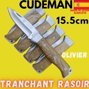 CUDEMAN PETIT COUTEAU PLIANT ESPAGNE 15 CM LAME TRANCHANTE A POMPE ARRIERE