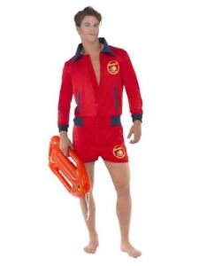 Details About Smiffys Baywatch Lifeguard Beach The Rock Adult Mens  Halloween Costume 20587