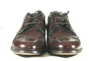 Florsheim Oxford Men's Sz 9 D Burgundy Leather Wingtip Brogue Dress Shoe Vintage