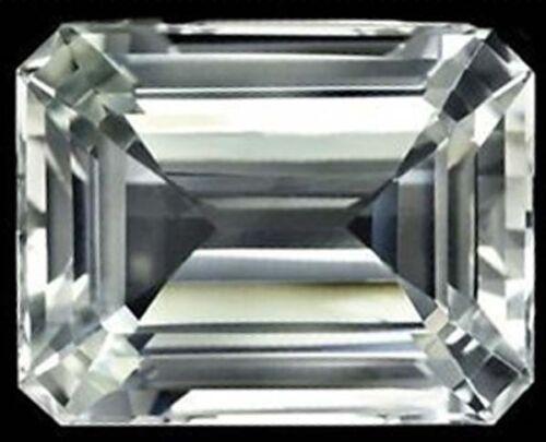Unheated 25.09ct AAA White Sapphire 13x18mm Diamonds Cut Emerald VVS Loose Gems
