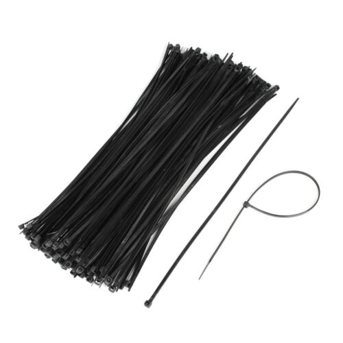 SSD 100 PACK 8 INCH ZIP TIES NYLON 40 LBS UV WEATHER RESISTANT BLACK WIRE CABLE