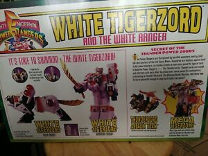 mighty morphin power rangers white tigerzord new unopened factory sealed