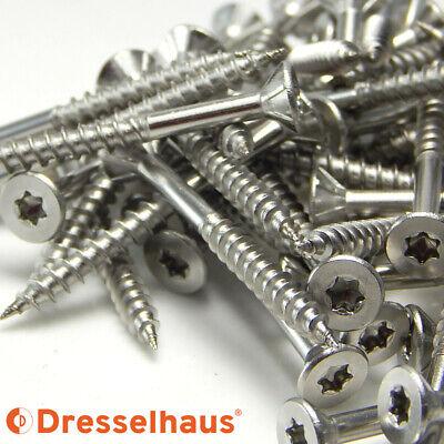 Dresselhaus V2A Spanplattenschrauben Edelstahl V2A Torx Ø 3-6mm Teilgewinde g