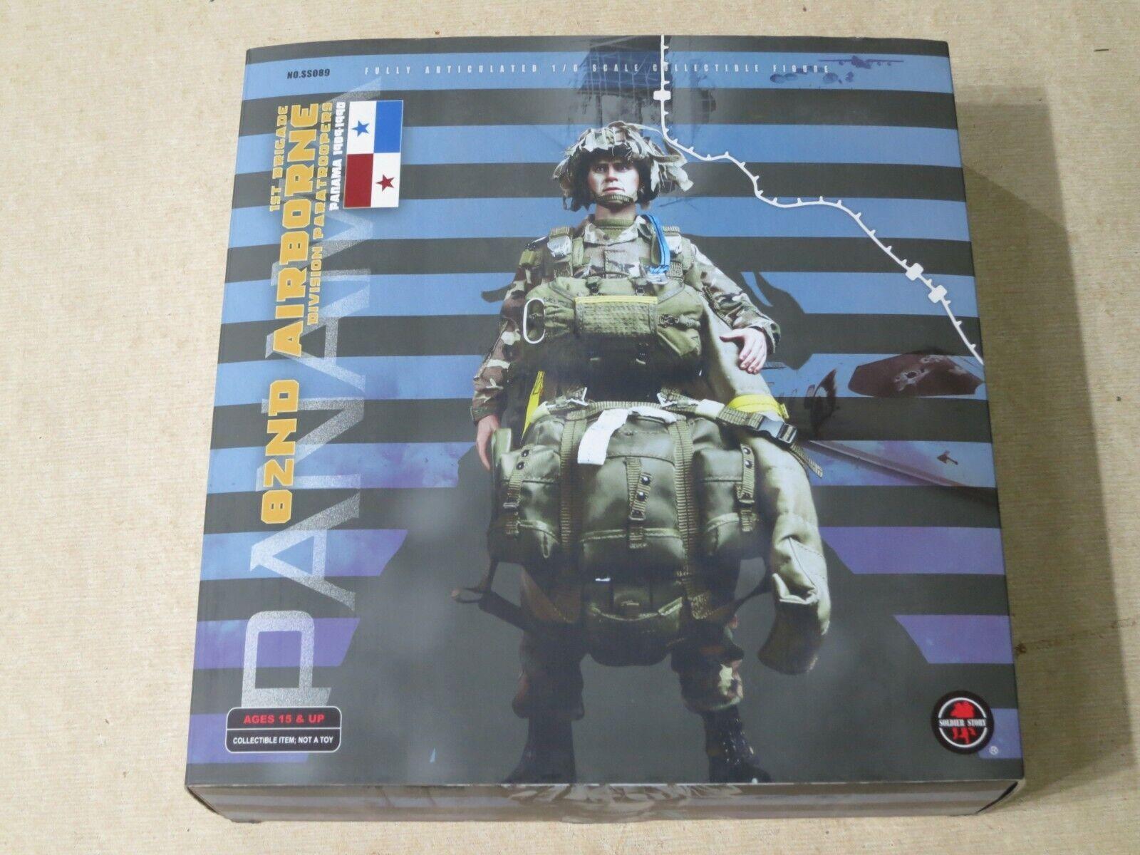 SOLDIER STORY 82nd Airborne Division paracaidistas Panamá 1989-90 Nuevo Figura de 12