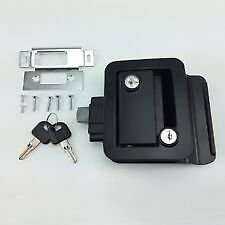 Black RV Handle Latch Paddle Entry Door Lock Knob Deadbolt Camper ...