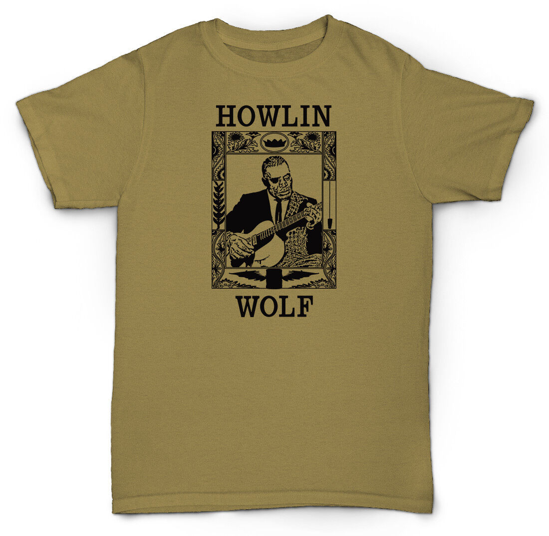 Homme All That Jazz Musique T Shirt Satchmo saxophone blues Howlin Wolf